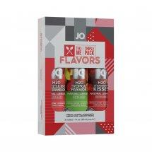 Набор System JO Tri-Me Triple Pack - Flavors (3 х 30 мл) три разных вк...