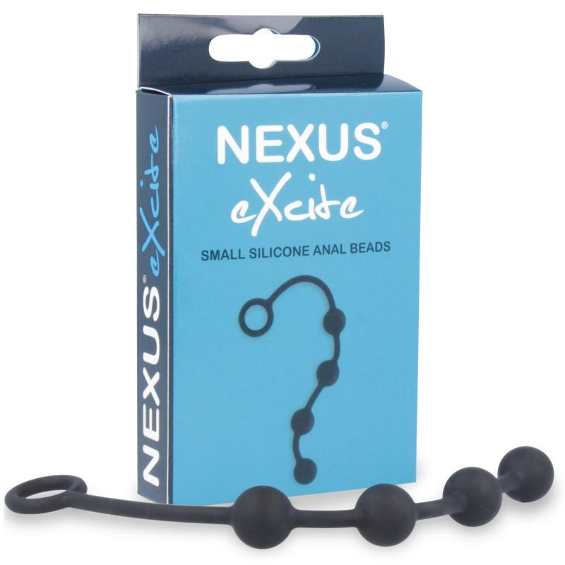 Анальные шарики Nexus Excite Small Anal Beads, силикон, макс. диаметр 2см