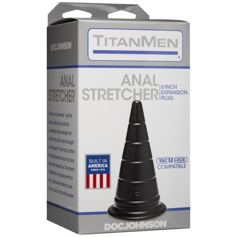 Анальный стимулятор Doc Johnson TitanMen - Anal Stretcher 6 Inch Plug, диаметр 6,6см