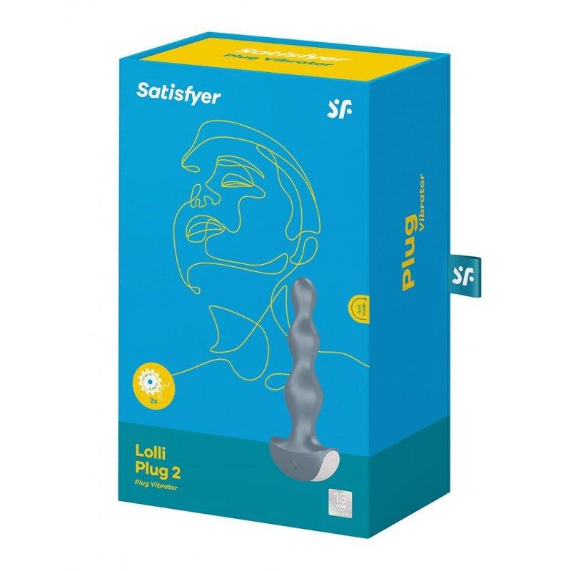 Анальный стимулятор-бусины с двумя моторами Satisfyer Lolli-Plug 2 (ice blue)