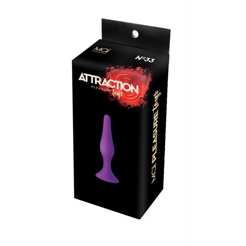 Анальная пробка на присоске MAI Attraction Toys №33 Purple, длина 11,5cм, диаметр 3см
