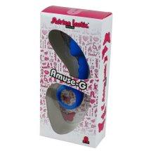 Анальная пробка Adrien Lastic Budy Blue со стимулирующей ножкой, макс....