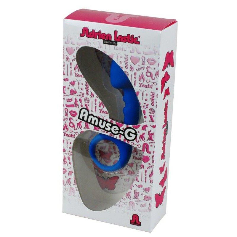 Анальная пробка Adrien Lastic Budy Blue со стимулирующей ножкой, макс. диаметр 2,5см