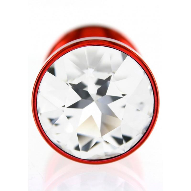 Анальная пробка Diogol ANNI round Red 35мм, с кристаллом Swarovsky