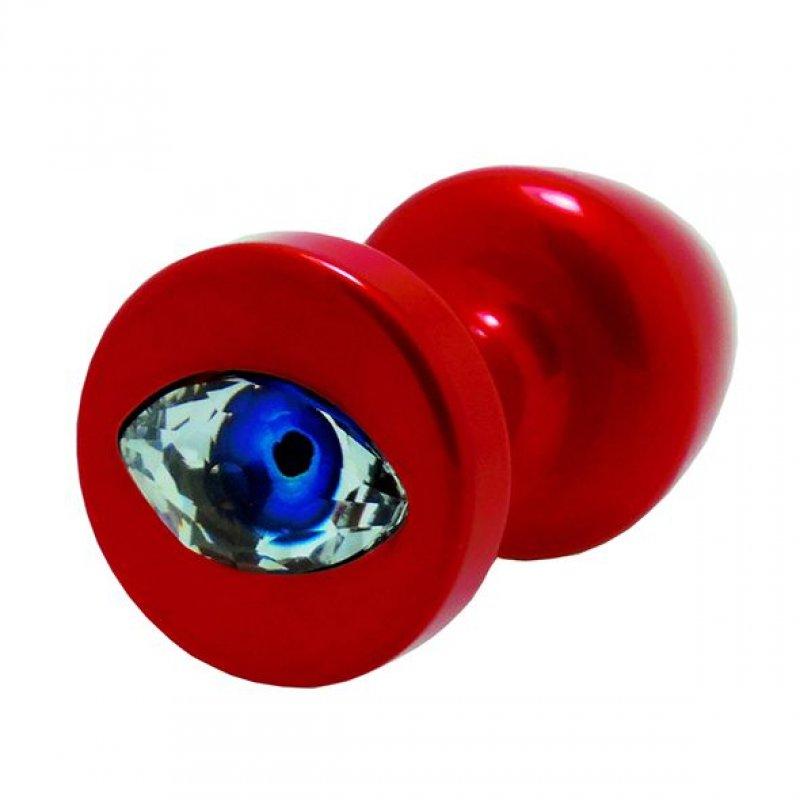 Анальная пробка со стразом Diogol Anni R Eye Red Кристалл 25мм