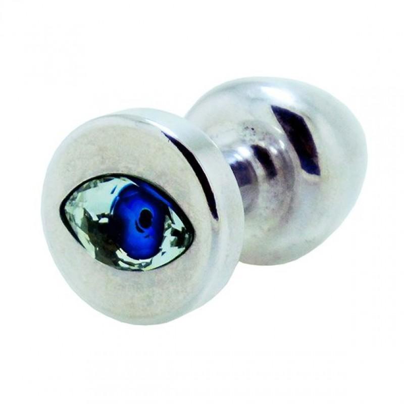 Анальная пробка со стразом Diogol Anni R Eye Silver Кристалл 25мм