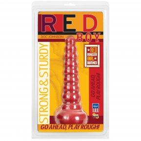Анальная пробка-втулка Doc Johnson Red Boy - Red Ringer Anal Wand, макс. диаметр 4,5см
