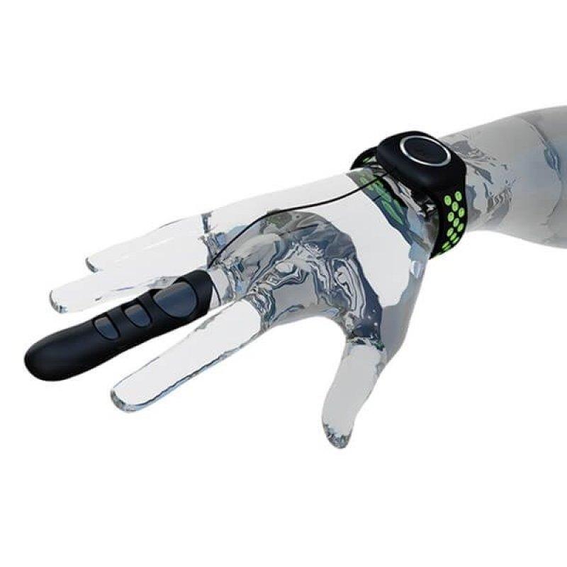 Вибратор на палец Adrien Lastic Touche (S) для глубокой стимуляции с пультом управления на руке
