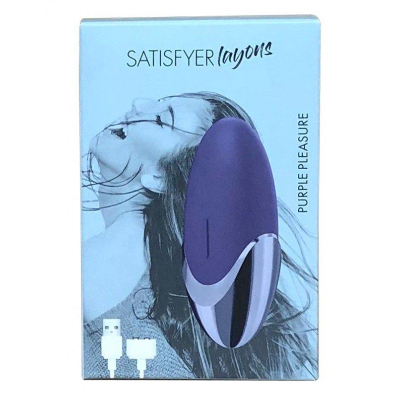 Мощный вибратор Satisfyer Lay-On - Purple Pleasure, водонепроницаемый,15 режимов работы