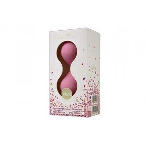 Вагинальные шарики Alive U-Tone Balls Pink, диаметр 3,5см, вес 77гр
