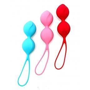 Вагинальные шарики Satisfyer V Balls (3 пары), диаметр 3,4см, вес 79-114-150гр, монолитные