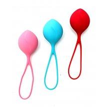 Вагинальные шарики Satisfyer balls C03 single (3шт), диаметр 3,8см, ве...