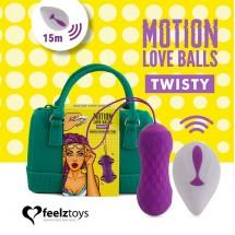 Вагинальные шарики с массажем и вибрацией FeelzToys Motion Love Balls ...