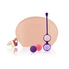Набор вагинальных шариков Rianne S: Pussy Playballs Nude, вес 15г, 25г, 35г, 55г, монолитные