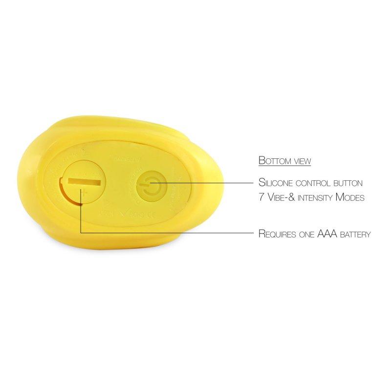 Вибромассажер уточка I Rub My Duckie - Classic Yellow v2.0, скромняжка