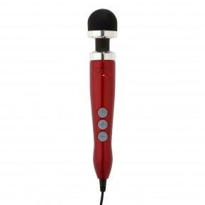 Вибромассажер DOXY Number 3 Candy Red, очень мощный, питание 220В, металлический корпус