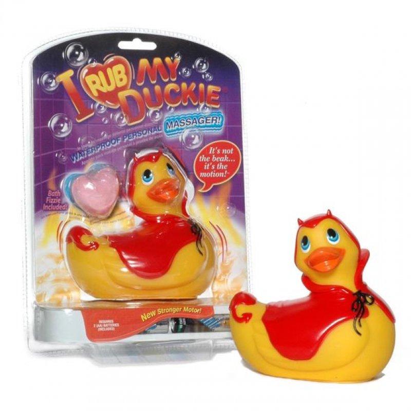 Вибромассажер уточка I Rub My Duckie - Red Devil (BIG)