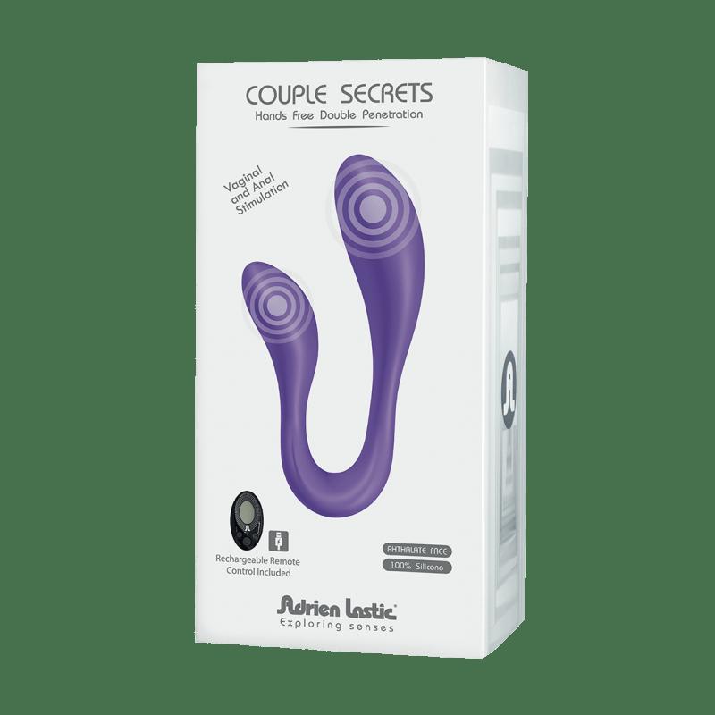 Вибратор для пар Adrien Lastic Couple Secrets II с пультом LRS, два мотора, универсальный