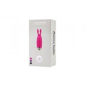 Вибропуля Adrien Lastic Pocket Vibe Rabbit Black со стимулирующими ушками