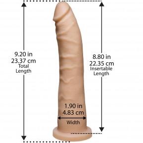 Фаллоимитатор Doc Johnson Platinum TRUSKYN - The Tru Ride Slim 9 Inch, диаметр 4,6см, двухслойный