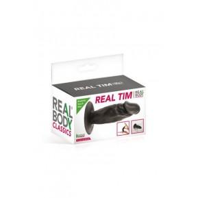 Фаллоимитатор Real Body - Real Tim Black, TPE, диаметр 3,4см