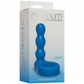 Насадка для двойного проникновения Doc Johnson The Double Dip 2 Blue, для пениса или игрушки