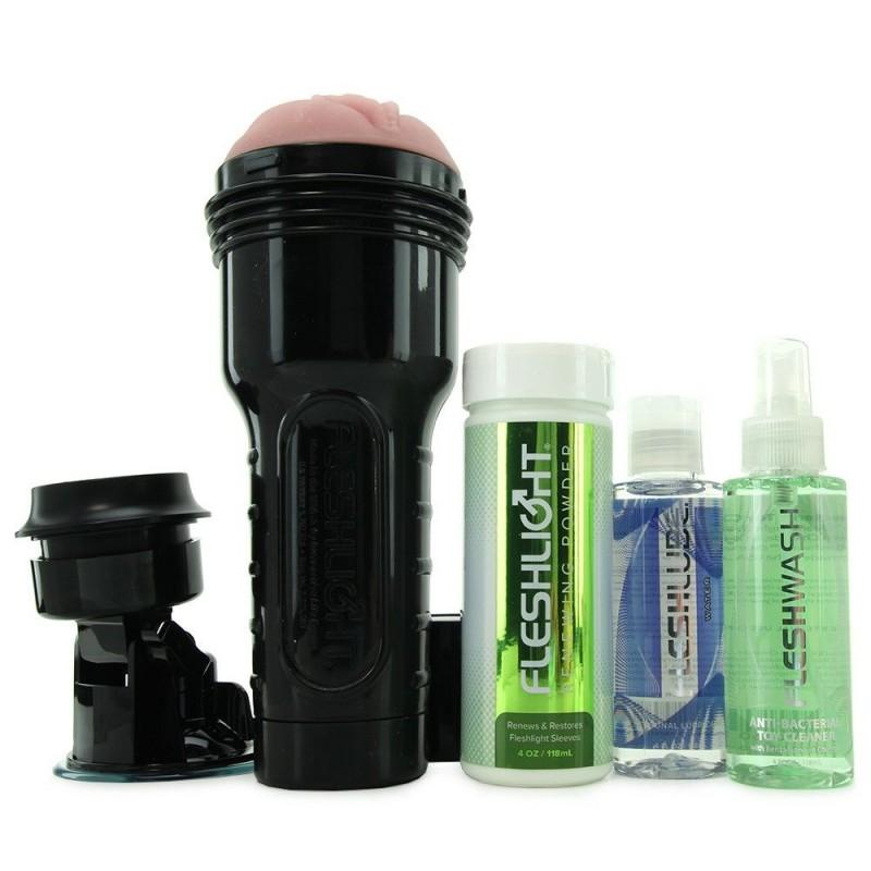 Мастурбатор Fleshlight Pink Lady Original Value Pack: присоска, смазка, чистящее и восстанавливающее