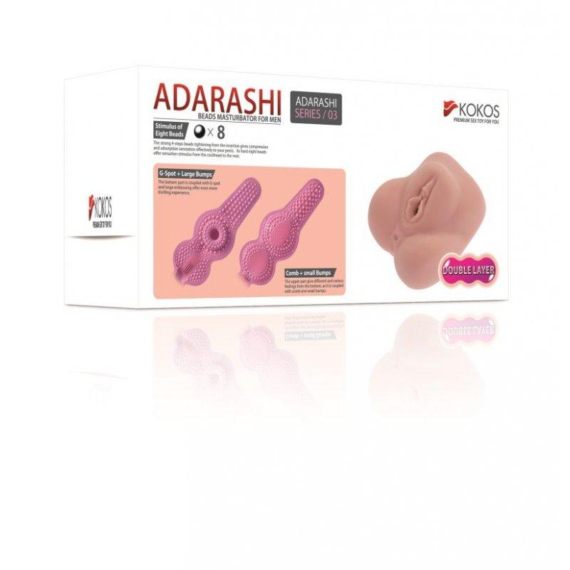 Мастурбатор вагина двухслойная Kokos Adarashi -3 DL