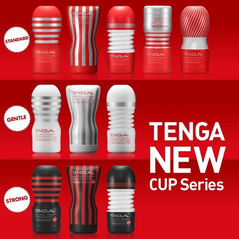 Мастурбатор Tenga Dual Feel Cup двусторонний, с двумя независимыми каналами