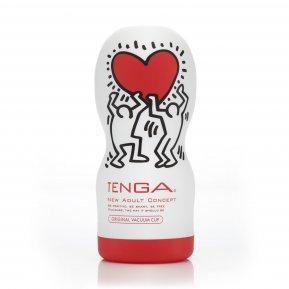 Мастурбатор Tenga Keith Haring Deep Throat Cup (глубокая глотка) с вакуумной стимуляцией